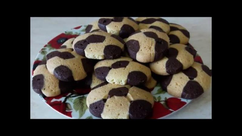 Рецепт вкусного печенья Рецепт на желтках ШАХМАТНОЕ печенье