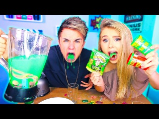 SOUREST DRINK IN THE WORLD CHALLENGE!! (GONE WRONG!!) 😱 Warheads, Toxic Waste Smoothie!