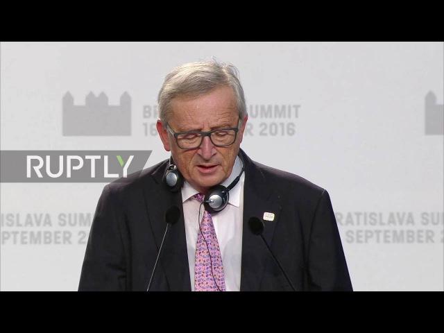 Словакия: Нет «возможность скомпрометировать» на свободное передвижение людей для Брексит Британия - Юнкер.