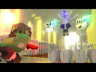 Minecraft animation - UNDERTALE I STRONGER than you (Human ver.) SANS vs CHARA