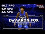 De'Aaron Fox Official Freshman Year Highlights  2016-2017  16.7 PPG, 4.0 RPG, 4.6 APG