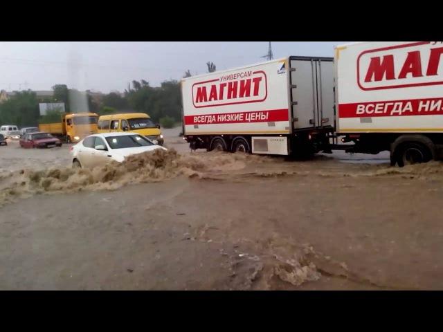 Потоп в Волгограде. Зеленое кольцо, авторынок.