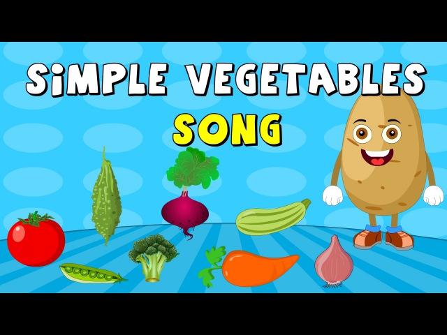 Learn Names Of Vegetables | Simple Vegetables Song | Elearnin