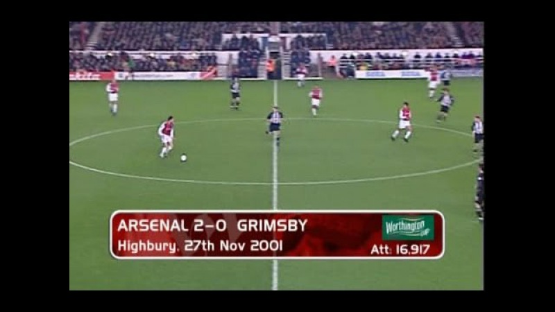 Arsenal - Grimsby Town 2-0 27-11-2001 League Cup