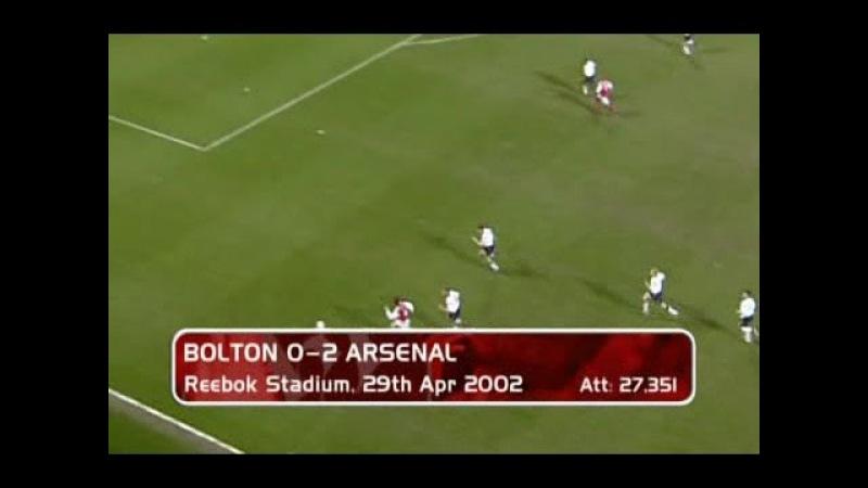 Bolton Wanderers - Arsenal 0-2 29-04-2002 Premier League