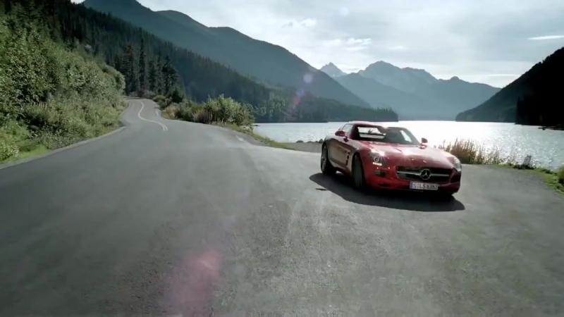 Реклама Mercedes Benz SLS AMG.Смертельный трюк в туннеле (за рулём Михаэль Шумахер )