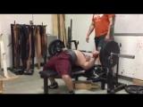 Аарон Померанц - жим лежа 100 кг на 32 повтора