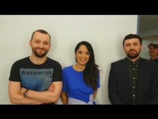 Руслан Белый, Юлия Ахмедова и Тимур Каргинов в Вечернем Урганте (03.06.2016)