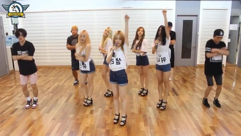 "UNICORN ""Huk"" Mirrored Dance Practice, 유니콘 ""헉"" 안무 거울모드"