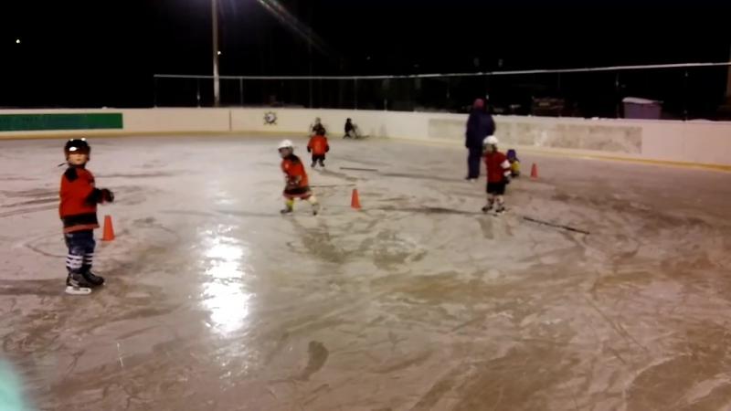 Тренировка детей 2010-2012г.р.на Хоккейном кортеДельфин в п.Лайский Док.