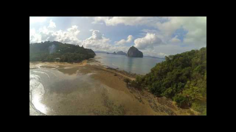 Zipline in the Philippines. The Beauty of El Nido.