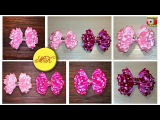 How to make hairclips with a bow polka dot  master-class DIY