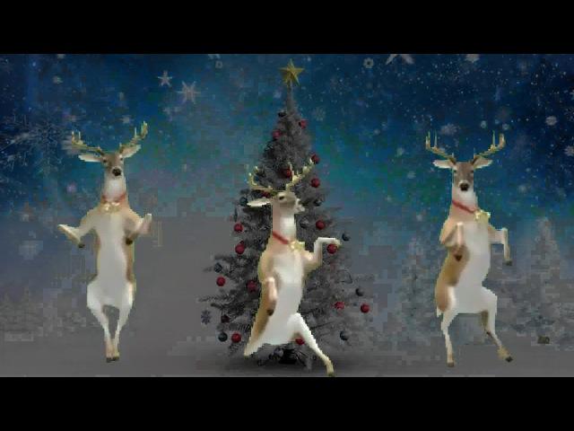 Новогодний танец оленей Бубенцы бубенцы радостно галдят
