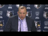 Thibs claims the Wolves are building offensive chemistry when under pressure