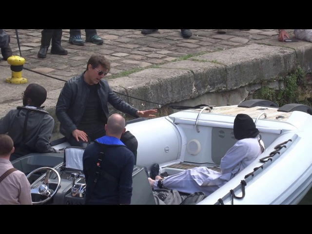 TOM CRUISE, SIMON PEGG AND SEAN HARRIS SPOTTED ON THE MOVIE SET OF MISSION IMPOSSIBLE 2017.05.15