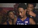 KD, Lowry Jordan Videobomb DeMar DeRozans Postgame Interview 2016 USA Basketball Showcase