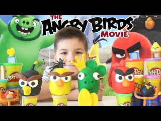 Play-doh Angry Birds Movie surprise eggs / Play-Doh ����� ����� SanSanychTV / Pl...