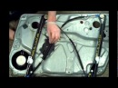 VW Passat B5 front left window regulator repair work fenterheber leve vitre