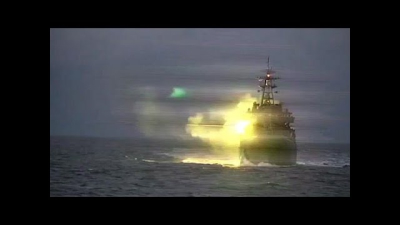 «Адмирал Виноградов» ведет учебный бой в Тихом океане