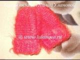 Варежки мохеровые Оранж - Knitting mittens crochet - вязание крючком