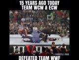 15 лет назад Команда WCW & ECW победила Команду WWE