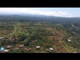 Полёт на квадрокоптере в Килиманджаро.