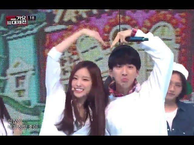 [가요대제전] B1A4 Apink - Love song 메들리, 비원에이포 에이핑크 - 러브송 메들리, KMF 20131231
