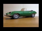Paper Craft Car -  Jaguar E-Type Roadster