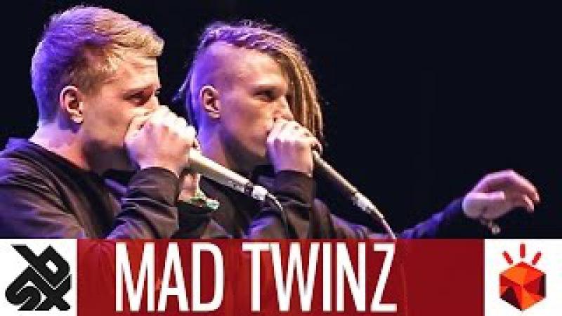 MAD TWINZ | Grand Beatbox TAG TEAM Battle 2017 | Elimination