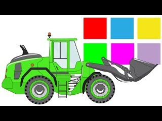 Learn Colors and Numbers. EXCAVATOR / Colors for Children / Vehicles for Kids / Video for Kids