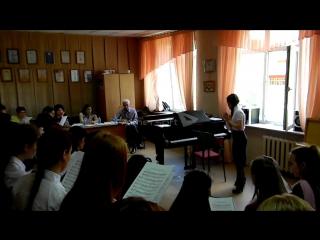 Мустафина Алина работа с хором