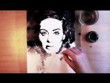 Тушь и вода. Портрет Adele