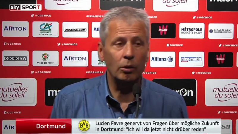 Lucien Favre zeigt sich genervt von den Gerüchten, er würde im Sommer Borussia Dortmund übernehmen