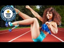 Roller skating with high heels and hula hooping Guinness World Records Italian Show Ep 23