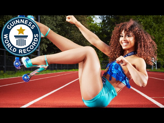 Roller skating with high heels and hula hooping! Guinness World Records Italian Show (Ep 23)