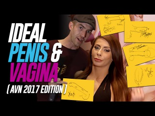 Porn Stars Draw Their Ideal Penis & Vagina (AVN 2017 Edition)