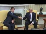Donald Trump's strange handshake style and how Justin Trudeau beat it.