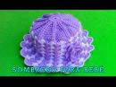 Sombrero tejido a crochet para bebé de 1 y 2 años paso a paso en punto abanicos
