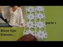 Blusa a crochet tipo kimono parte 1