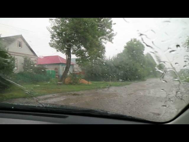 Ливень и потопы в Самойловке Саратовской области (24.07.2016)