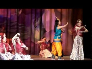 Krishna and gopi kathak classical dance, Chakkar, Moscow, Tulasi Svetlana