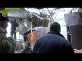 Артиллерийская атака украинских боевиков по городу Брянка