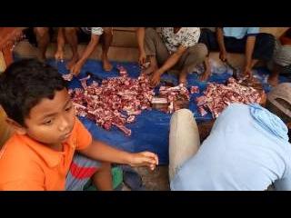10 potong daging qurban IDHUL ADHA 2016 di desa JAMBU dusun Kedung Cangkring PARE KEDIRI