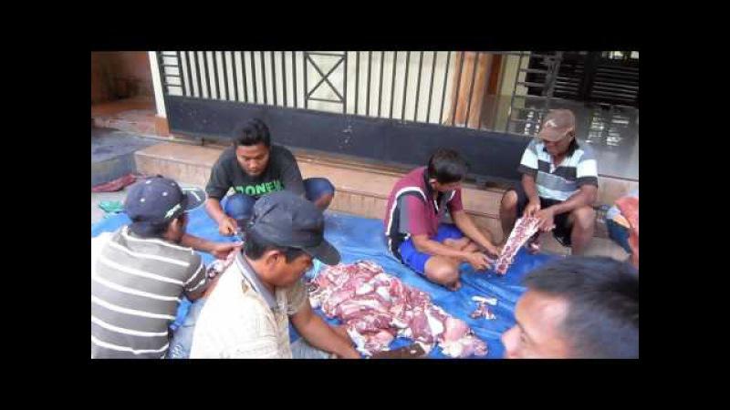 9 potong daging qurban IDHUL ADHA 2016 di desa JAMBU dusun Kedung Cangkring PARE KEDIRI
