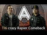 Alliance crazy Rapier Comeback vs Escape — The International 2016