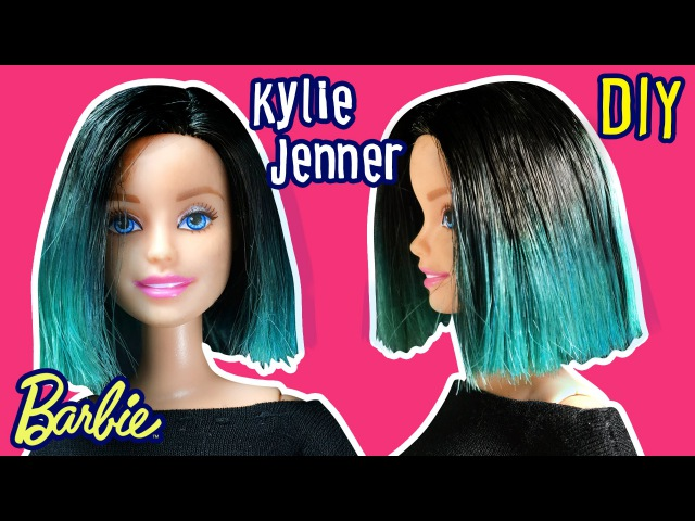 Kylie Jenner Hair for Barbie Doll - Barbie Haircut Tutorial - DIY - Making Kids Toys