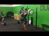 Back squat: 207 x 1 rep by Lukas Esslinger