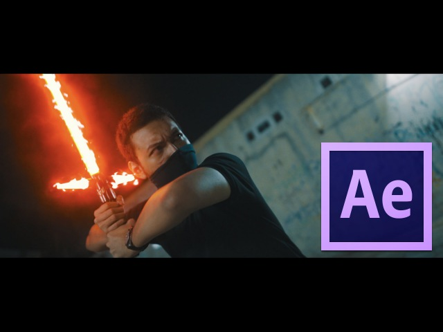 After Effect Tutorial - Kylo Ren's Light Saber Effect Voice Effects Space Ship Sound Effects!