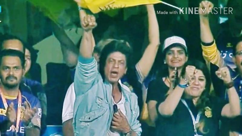 Shah Rukh Khan at Bengaluru Stadium SRH v KKR match