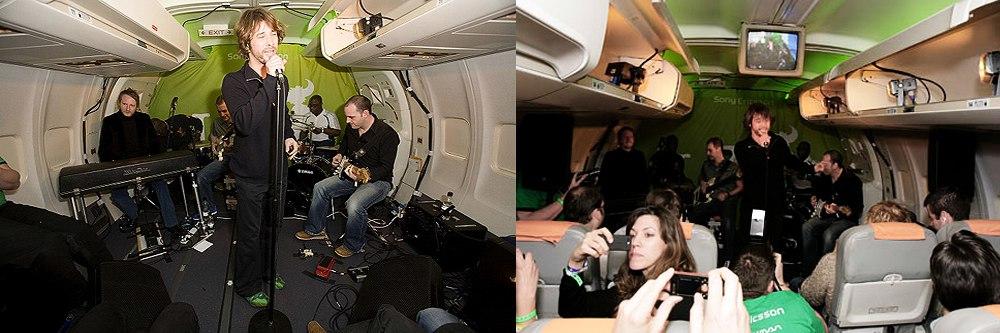 Необычные места для концертов: Jamiroquai в самолете